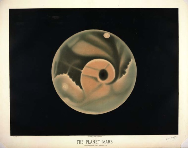 The planet Mars Observed September 3 1877 at 11h 55m P M