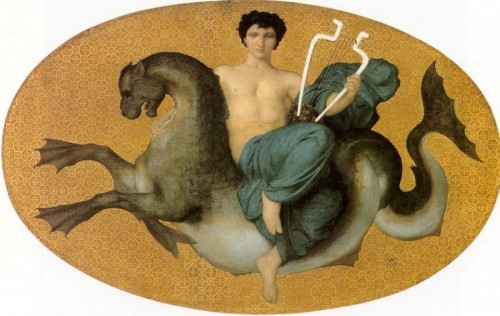 Mythology-Arion-on-a-Sea-Horse-1855