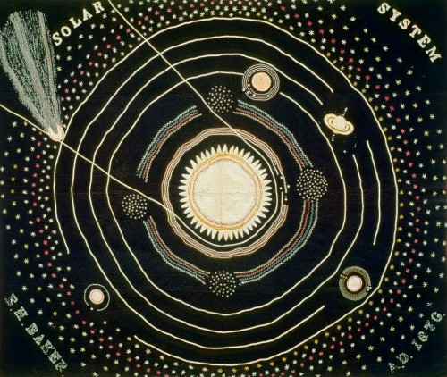 Ellen Harding Baker. Solar System Quilt. 1876