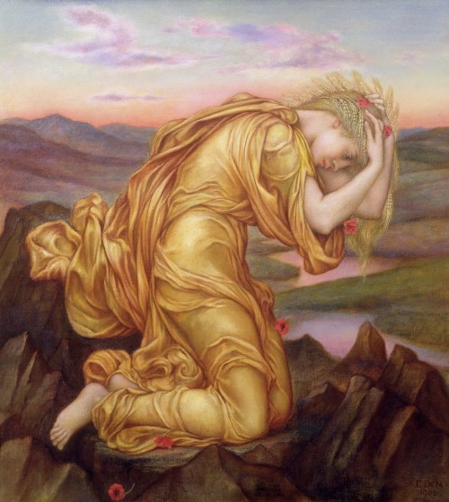 Demeter Mourning for Persephone by Evelyn de Morgan 1906