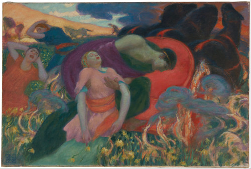 Rupert Bunny - The Rape of Persephone -